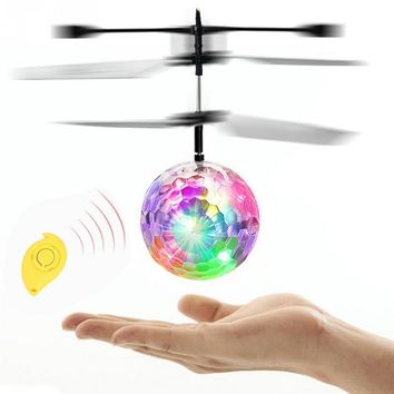 New exotic children creative toys induction flash fly ball remote control aircraft flower fairy for child gift funny