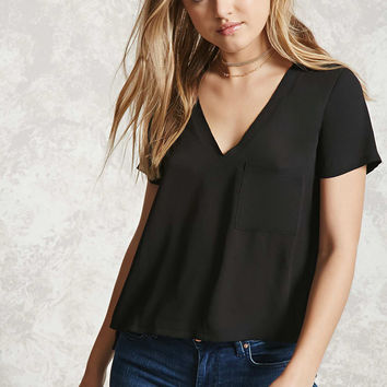 Boxy V-Neck Top