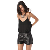 CHIFFON TOP ROMPER SEQUIN SHORTS