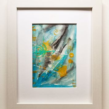 018 Original Abstract  Art on Paper. Free-shipping within USA.