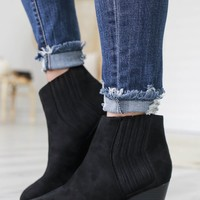Persuede Me Booties - Black