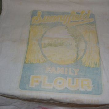 Sunnyfield Family Flour Sack~ Vintage Flour Bag