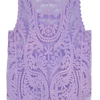 Purple Lace Tank Top