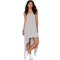 Gray Sleeveless Irregular Loose Camisole Dress