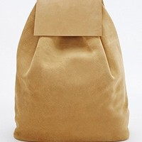 Mum & Co. Leather and Suede Backpack in Mustard - Urban Outfitters