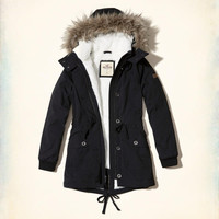 Girls Stretch Cozy-Lined Parka | Girls Jackets & Coats | HollisterCo.com