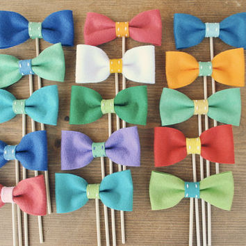 Bowties on a Stick // Photo Props // Set of 6 // by Perfectionate