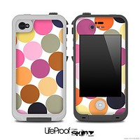 Big Polka V5 Fun Color Pattern Skin for the iPhone 5 or 4/4s LifeProof Case