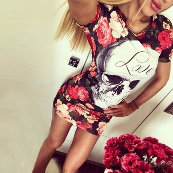 Womens Elegant Flower Floral Printed Mickey Short Sleeve Ruffle Casual bridesmaid Mother of Bride Evening Party Dress