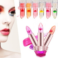 1PC Waterproof Long Lasting Flower Lipstick Moisturizing Lip Gloss Beauty Women [9325738884]