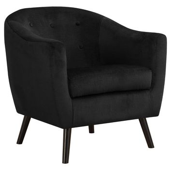 Accent Chair - Black Mosaic Velvet