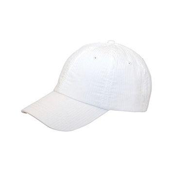 Hats & Caps Shop Low Profile | (Uns) Pinstripe Washed Cotton Cap - By TheTargetBuys | (WHITE)