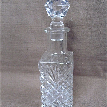 Vintage Cut Glass Perfume Bottle
