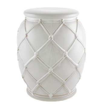 White Side Table | Eichholtz Drum Rope