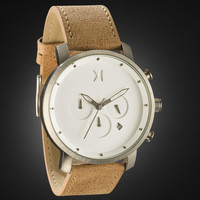 Chrono White/Caramel Leather