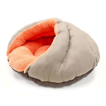 Burger Bed Small Dog Snuggle Bed - Solid Color