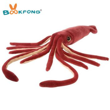 56cm Giant Marine Animal Squid Plush Toy Simulation Squid Stuffed Animal Doll Kids Gift