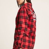 Von Dutch Faux Shearling-Lined Fleece Plaid Jacket