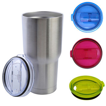 New Product 100% Leakproof Seal Splash Assistant Lid for 30oz Yeti Rambler Tumbler,Clear Color Slip Lid for Insulated Cup 876980