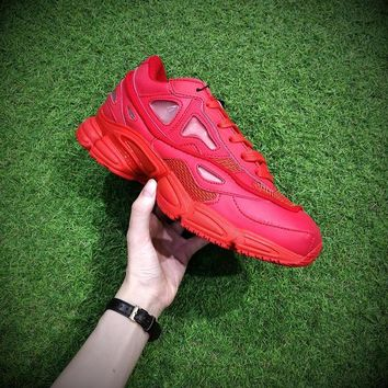 Raf Simons x Adidas Consortium Ozweego S74584 Red Women Men Casual Trending Running Sports Shoes Sneakers