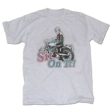 Happy Days Sit On It Fonzie Silver T-shirt