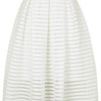Airtex Striped Prom Skirt - White