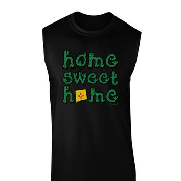 Home Sweet Home - New Mexico - Cactus and State Flag Dark Muscle Shirt  by TooLoud