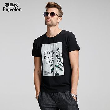 cotton t shirt men 2 color printing clothing t shirt male o neck fashion clothes casual clothing