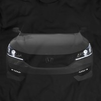 2016 Honda Accord EX-L T-Shirt V6 Led Halos Headlights Glow 100% Cotton Holiday Gift Birthday