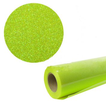 "50x100cm/20""x40"" GLITTER Fluorescent Heat Transfer Vinyl HTV Heat Press or Iron On For Clothing"