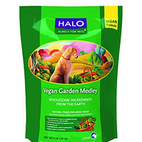 Halo Holistic Dry Vegan Dog Food, Garden Medley Stew, 4 LB Bag of Dry Adult Dog Food