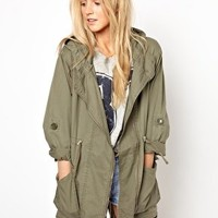 Primark Studded Parka at asos.com