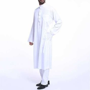 Muslim Middle East Mens Fashion Robes Suit