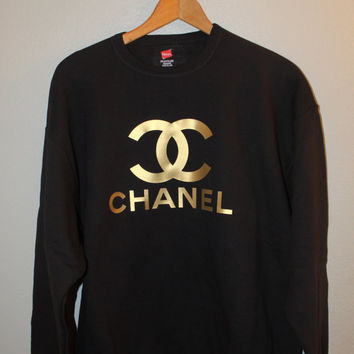 Black on gold chanel sweater