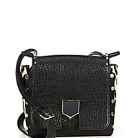 Jimmy Choo - Small Pebbled Leather & Leopard-Print Calf Hair Messenger Bag - Saks Fifth Avenue Mobile