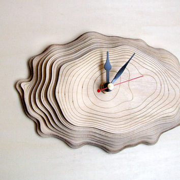 Bark clock - unique wall clock