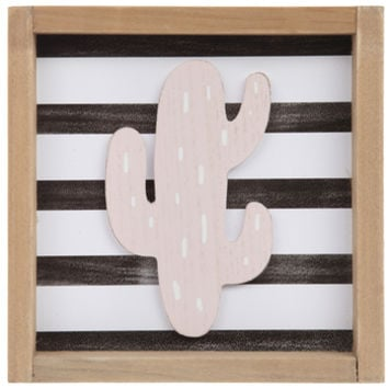 Striped Cactus Wood Wall Decor | Hobby Lobby | 1799881
