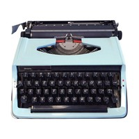 Pre-owned Vintage Blue Sears Typewriter