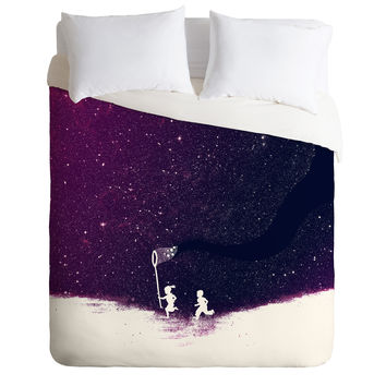 Budi Kwan Starfield Purple Duvet Cover
