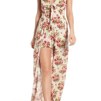 Band of Gypsies Walk Through Overlay Romper | Nordstrom