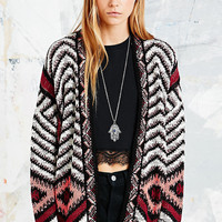 Staring at Stars Triangle Pop Cardigan in Red - Urban Outfitters