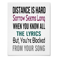 Distance (standard picture frame size) posters