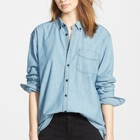 Women's Madewell Chambray Boyfriend Shirt