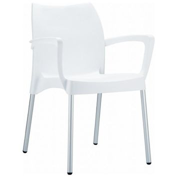 Dolce Resin Outdoor Armchair White (Set of 4)