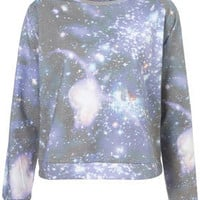 Space Sublimation Print Nightwear Jumper