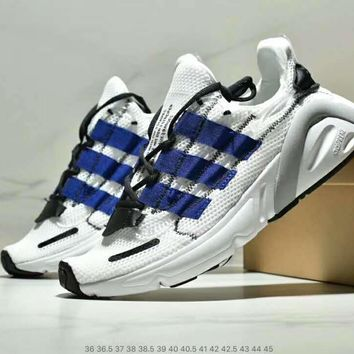 Adidas Yeezy Boots 600 Fashionable Women Men Casual Running Sport Shoes Sneakers White/Blue