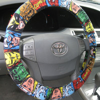 Marvel Comics * Steering Wheel Cover * Seat Belt * Avengers Spiderman Thor Hulk Ironman Captain America Wolverine * Thing * Qucksilver