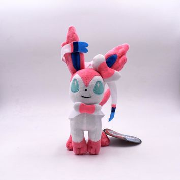 15-20cm Eevee Standing Sylveon Pluch Toy Cartoon Anime Peluche Soft Stuffed Doll Baby Toy Gift For Children Free Shipping