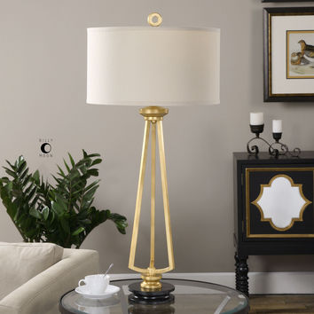 Torano Antiqued Gold Lamp