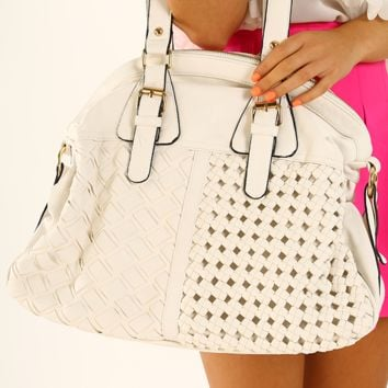 One More Try Purse: White